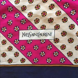 Vintage Yves Saint Laurent Silk Scarf